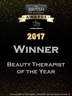 2017 winner - beauty therapist of the year