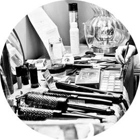 hair and makeup tools