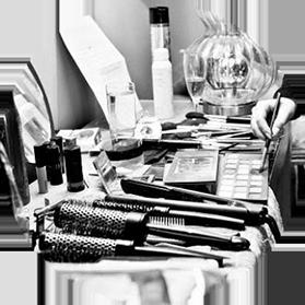 hair and makeup tools