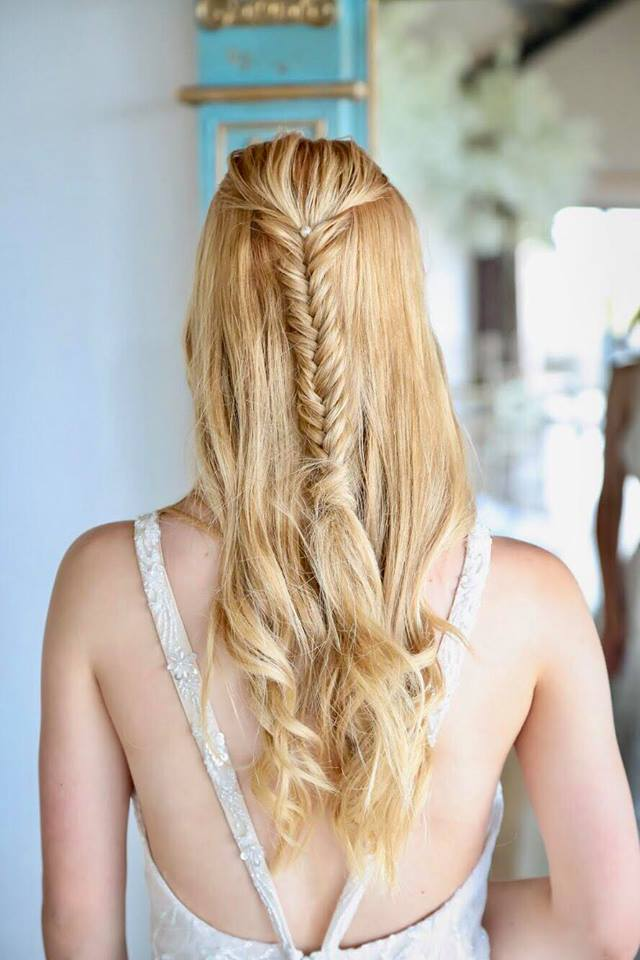 Fishtail Half Updo. Prom Hair & Makeup